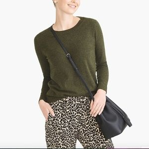 J.Crew Outlet Cotton Wool Teddie Sweater Htr Olive